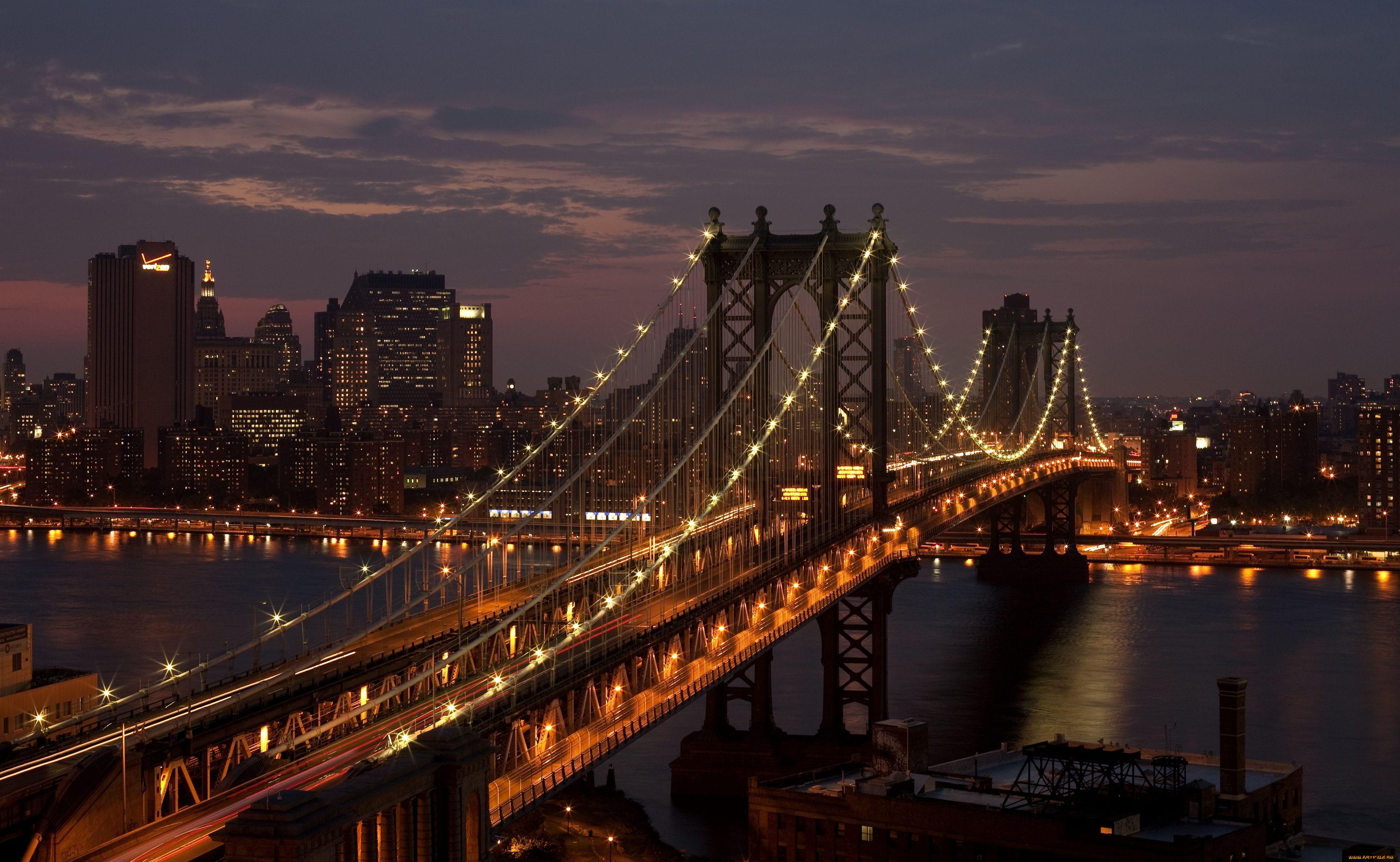 Картинки ночные мосты